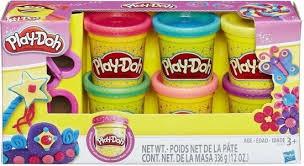 Playdoh glitter klei van Hasbro.6 potjes