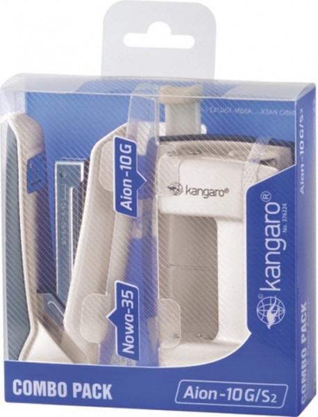 Kangaro kantoorsetmet perforator en nietmachine wit.
