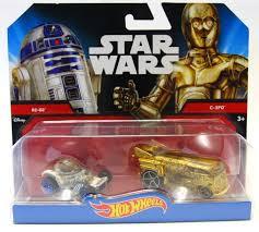 Starwars auto's van Hotwheels, R2-D2 met C-3PO.