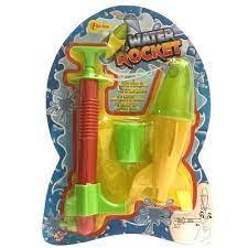 Water rocket, schiet je racket met water omhoog.