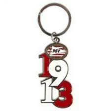 Psv sleutelhanger metaal 1913 met logo.