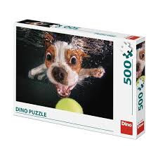 Dino Puzzel 500 Stukjes Puppy Onder Water