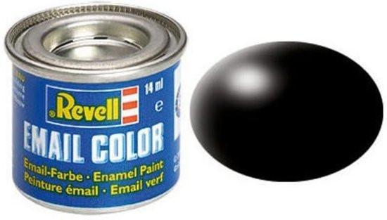 Revell verf voor modelbouw zijdemat zwart nummer 302