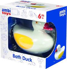 Ambitoys badeendje,drijft op het water .