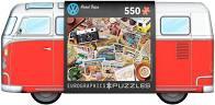 Volkswagen bus met puzzel over de geschiedenis van deze bus.550 stukjes