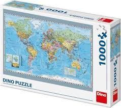 Dino Puzzel Wereldkaart 1000 Stuks