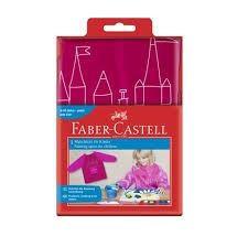 Faber-castell kliederschort rood-oranje met lange mouwen