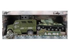 Militair pantservoertuig met tank.