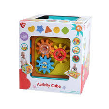Playgo speel kubus die je ook als puzzelmat kunt gebruiken.