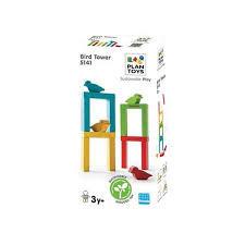 Plan toys houten bird tower.16 delig.