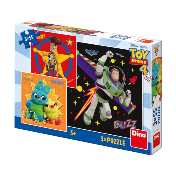 Dino Disney Toy Story Puzzel 3x55 Stukjes