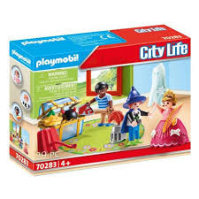 Playmobil kinderen met verkleedkoffer 70283.
