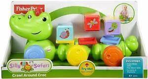 Fisher-price Silly safari krokodil met speelkubussen.