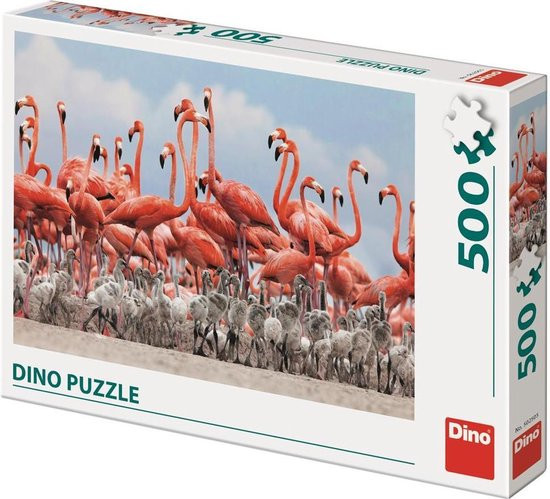Dino puzzel flamingo 500 stukjes.