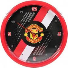 Manchester united wandklok op batterijen.