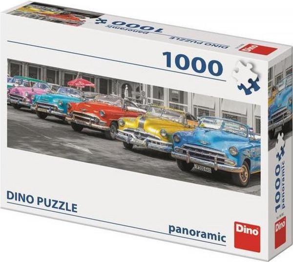 Dino puzzel 5 Cuba auto's op een rij ,1000 stukjes.