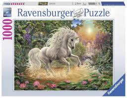 Ravensburger puzzel mystieke eenhoorn 1000 stukjes.