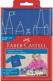 Faber-castell kliederschort blauw met lange mouwen
