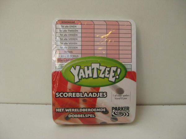 Yathzee Scoreblaadjes