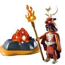 Playmobil 5104 Vuurwachter Met Led Verlichte Rots