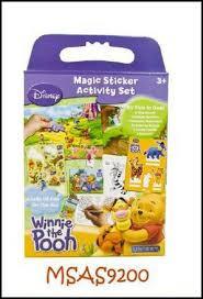 Uniset raam stickers van Winnie de Pooh.