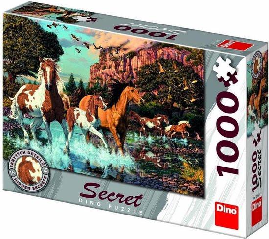 Puzzel van galopperende paarden ,1000 stukjes
