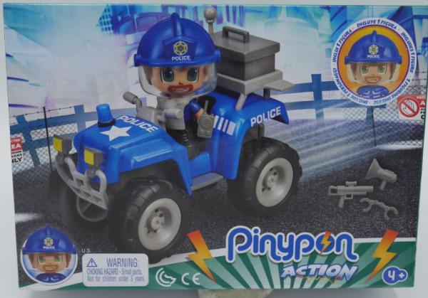 Pinypon politie jeep met action figuur en toebehoren.