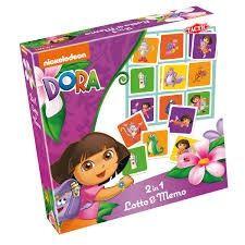 Selecta dora 2 in 1 memo en loto spel.