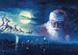 Puzzelman Puzzel - Kerstman Santa Claus in de Wolken