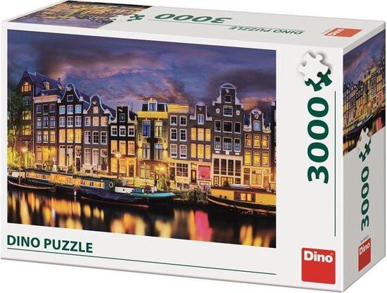 Dino puzzel van Amsterdam in 3000 stukjes.
