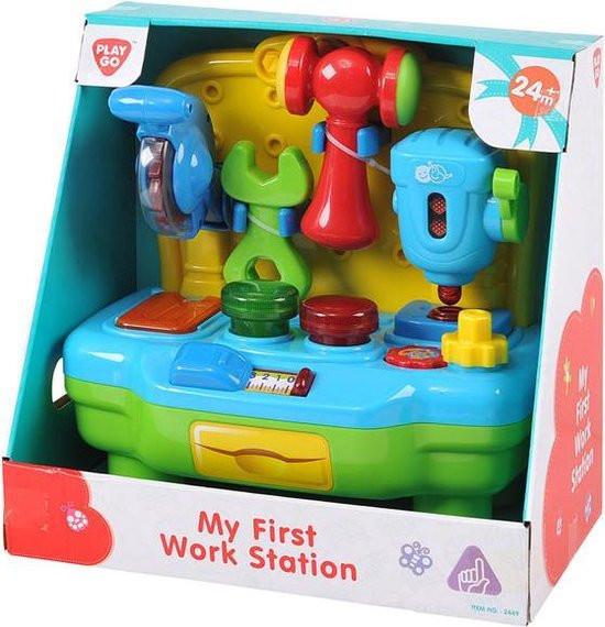Playgo my first workstation werkbank met gereedschap.