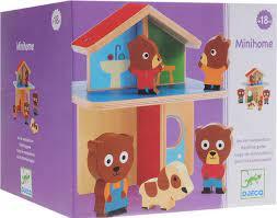 Djego mini home 1 huis en dieren familie van hout.