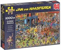 Jumbo puzzel jan van Haasteren rollerdisco.1000 stukjes